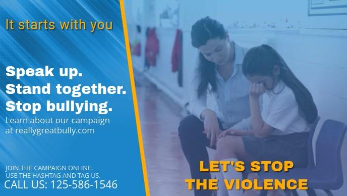 Anti-bullying Campaign Facebook Cover Video Template