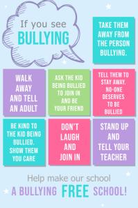 anti bullying classroom poster