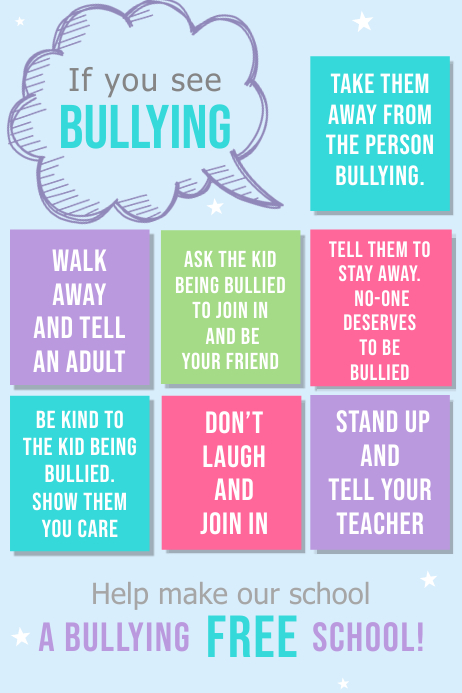 Anti-Bullying Classroom Poster