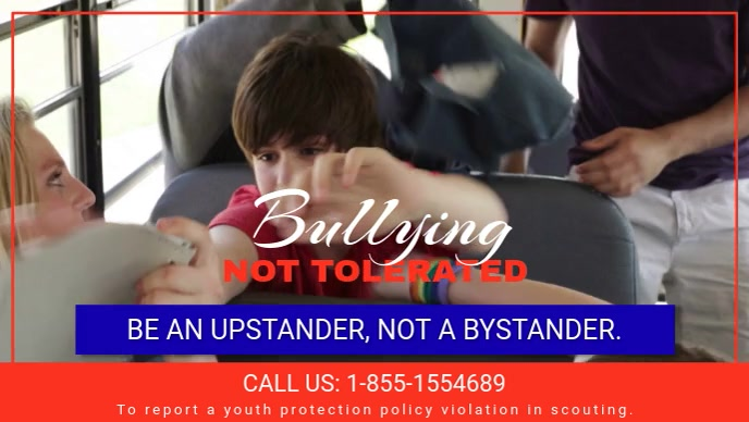 anti bullying help line facebook video cover template