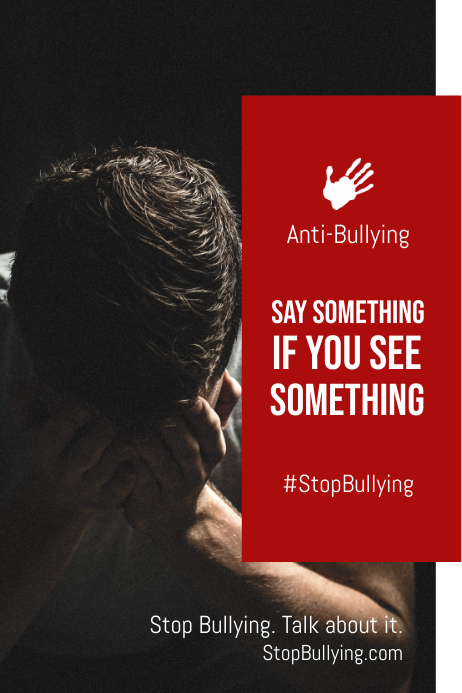 Anti Bullying Red Poster 海报 template