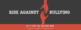 Anti Bullying Slogan Facebook Cover Template