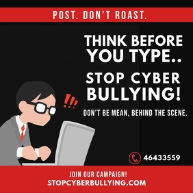 anti cyber Bullying Instagram Post