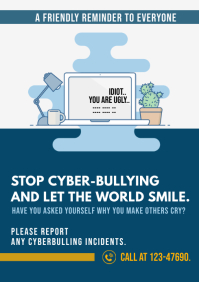 anti cyber Bullying poster
