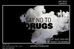 ANTI-DRUG CAMPAIGN Banner 4' × 6' template