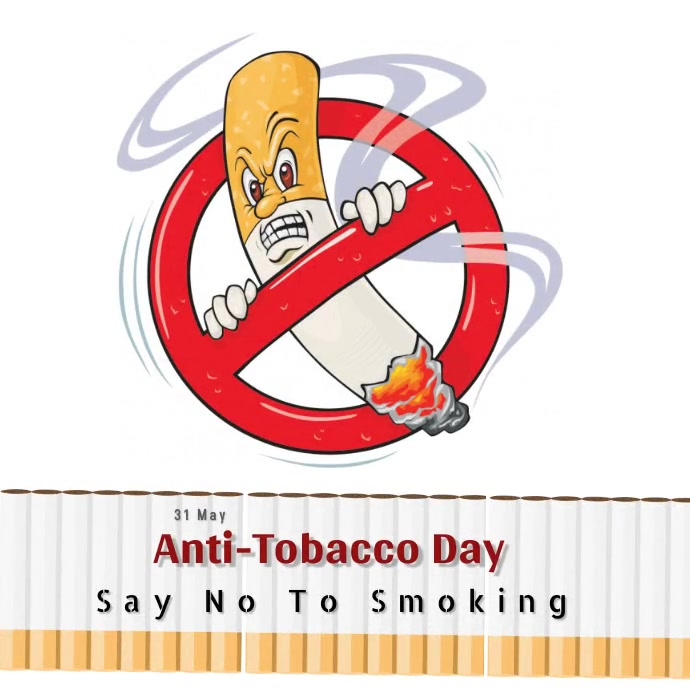 Anti-Tobacco Day โพสต์บน Instagram template