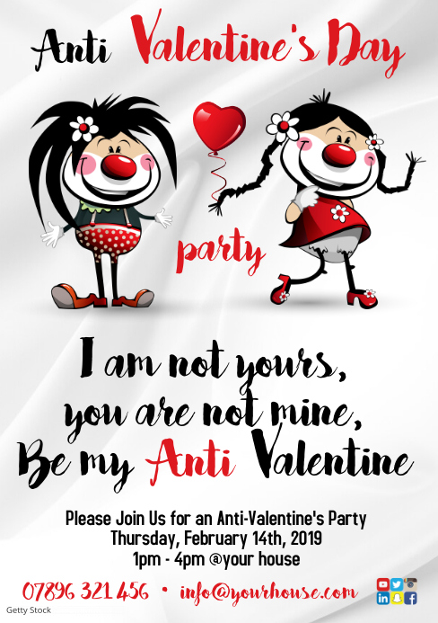 Anti Valentinstag Poster Vorlage Postermywall