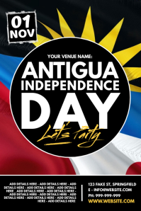 Antigua Independence Day Poster โปสเตอร์ template