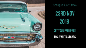 ANTIQUE CAR SHOW EVENT FACEBOOK COVER