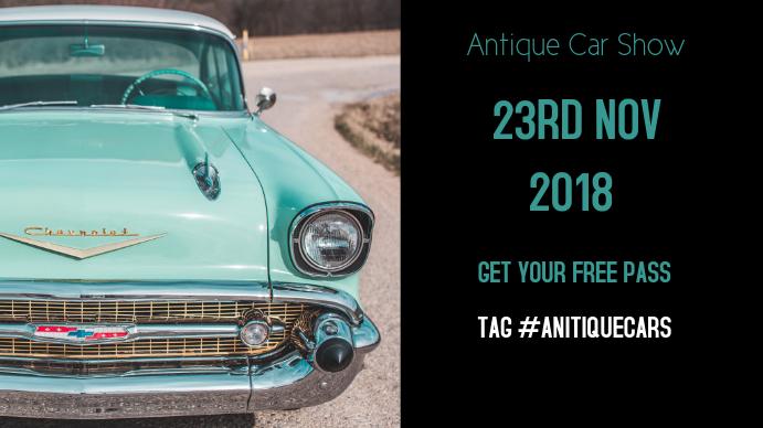ANTIQUE CAR SHOW EVENT FACEBOOK COVER