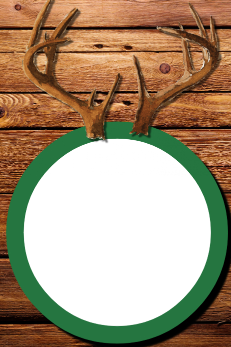 Antlers Party Prop Frame Template   PosterMyWall