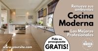 Anuncio Proyecto de Reforma de Cocina Gambar Bersama Facebook template