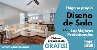 Anuncio Proyecto de Reforma de Sala de Estar Gambar Bersama Facebook template