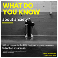 Anxiety and Depression Awareness Social Media Instagram-bericht template