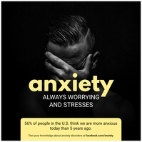 Anxiety Triggers Awareness Ad Publicación de Instagram template