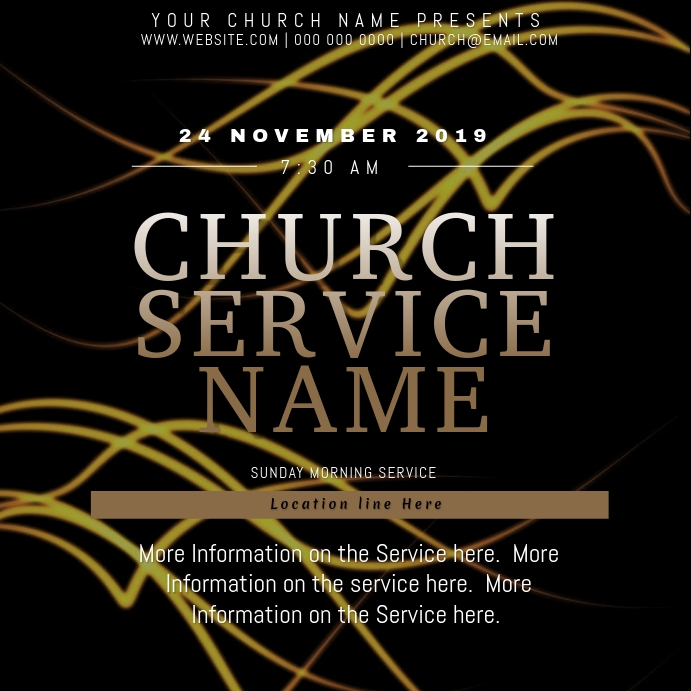 Any Church Event Flyer Template