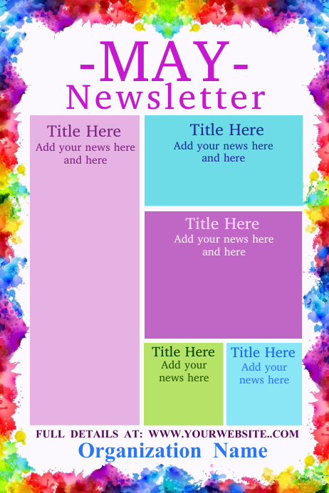 Any Month Newsletter Template Poster