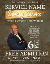 Any Sunday Service Event Flyer Template