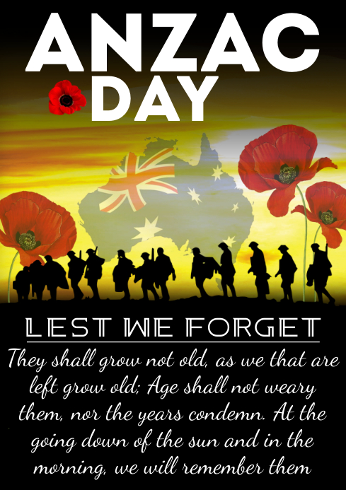 Anzac Day A4 template
