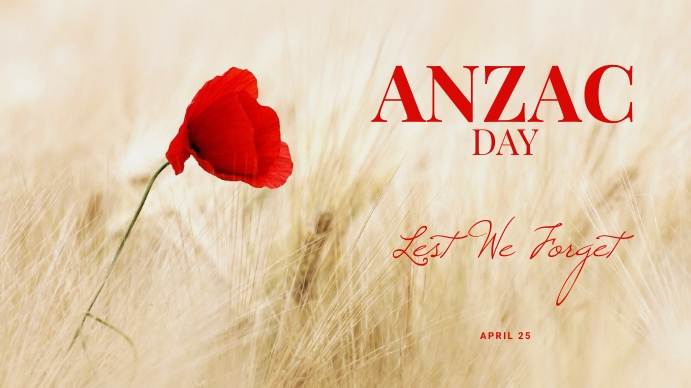 Anzac Day Facebook Cover Template Digital Display (16:9)