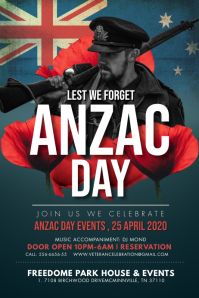 Anzac Day Parade Poster Póster template