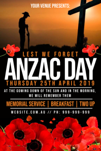 Anzac Day Poster template