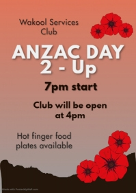 Anzac Day Remembrance Poster Flyer (format US Letter) template