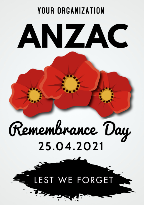 Anzac Flyer A3 template