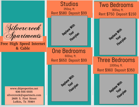 Apartment Floorplan Brochure