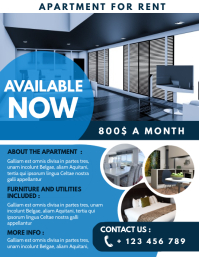 apartment for rent advertisement design templ Folder (US Letter) template