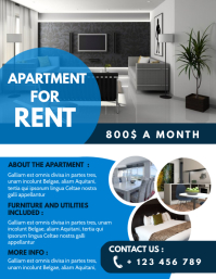 apartment for rent advertisement design templ Ulotka (US Letter) template