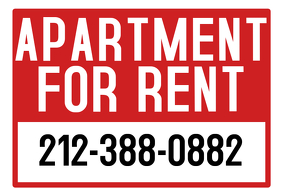 Apartment for Rent Sign Poster template