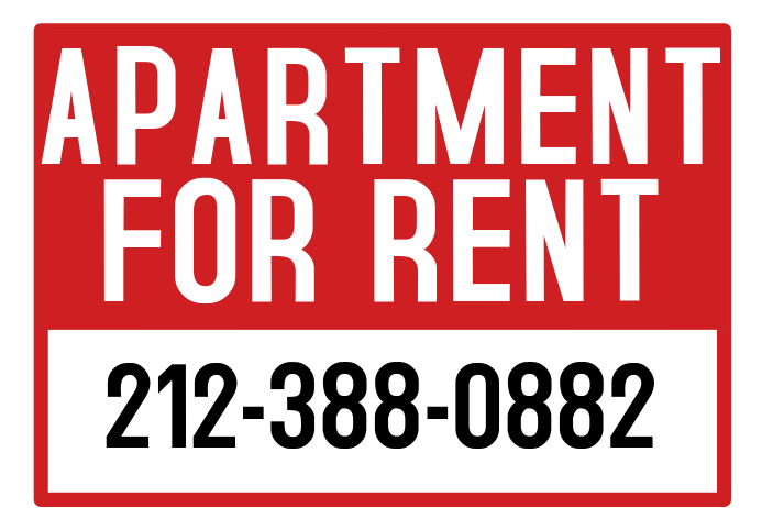 apartment for rent sign template postermywall