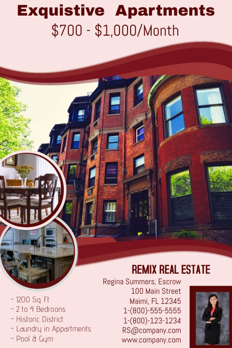 Apartment Rental 横幅 4' × 6' template