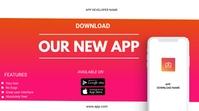 App flyer งานนำเสนอ Presentation (16:9) template