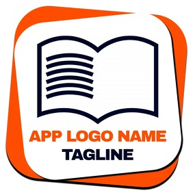 app logo for books or documents