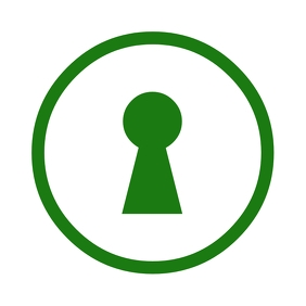 App logo with a lock