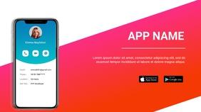 App promo flyer Presentación (16:9) template