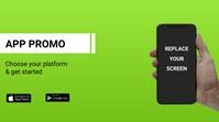 App promo flyer Apresentação (16:9) template
