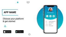 App promo flyer Presentation (16:9) template