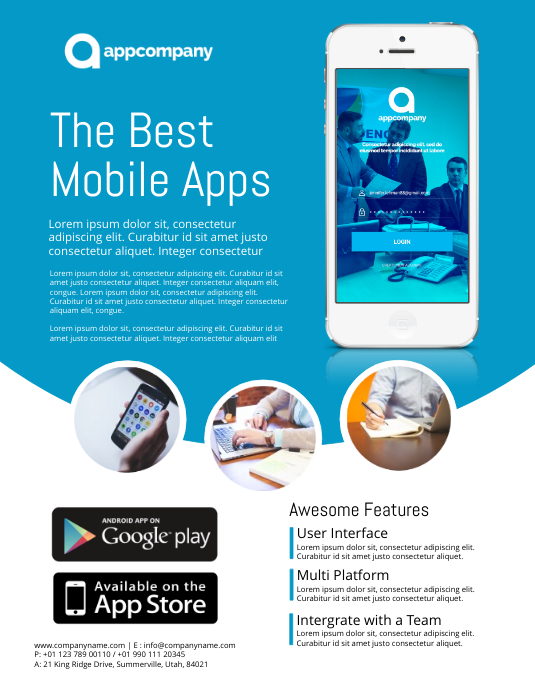 App Promo Flyer Template  Flyer Samples Templates