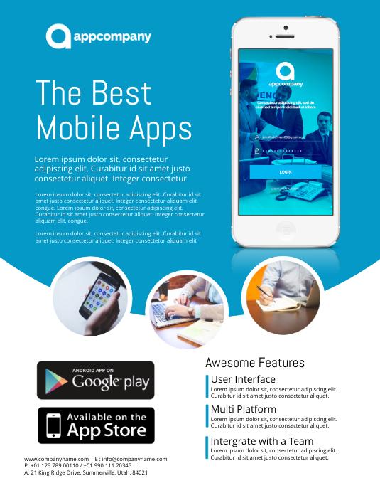 App Promo Flyer Template  Advertisement Flyer Template