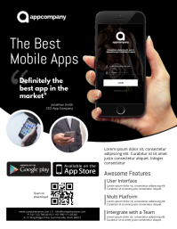 Customizable Design Templates For Mobile App PosterMyWall - Mobile app design templates