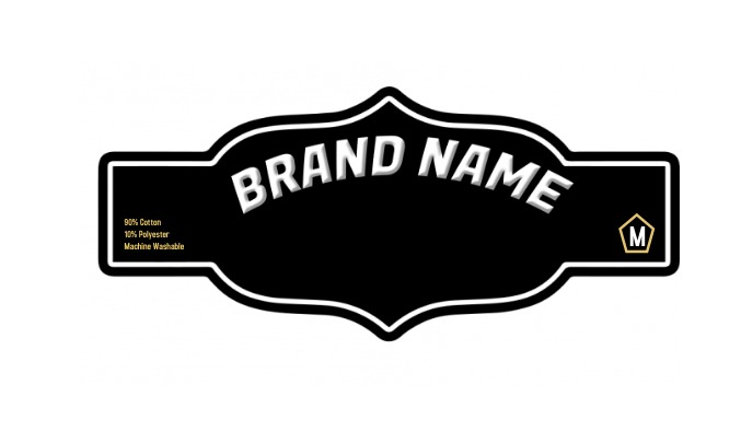 Apparel Neck Label Template Tag