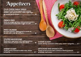 Appetizer Menu Card
