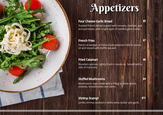 Appetizer Menu Card V2