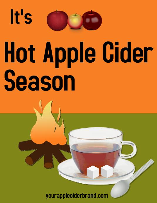 apple cider/crisp weather/fall/autumn/drink ใบปลิว (US Letter) template