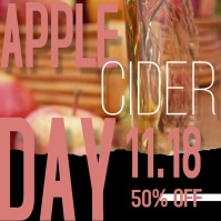 Apple Cider Day Celebration Video Ad Сообщение Instagram template