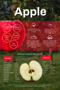Apple Facts Fruits Infographic Template