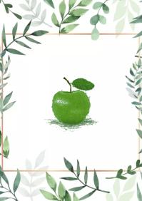 Apple green design A2 template